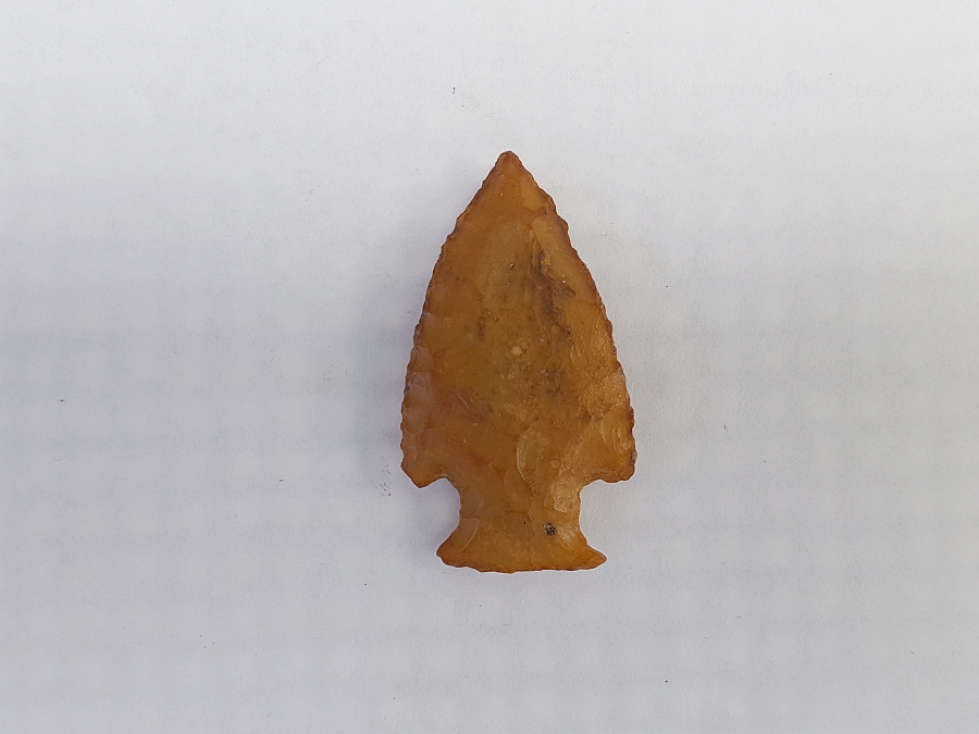 Fl. Hardin type arrowhead, TRANSLUCENT CORAL! | Fossils & Artifacts for Sale | Paleo Enterprises | Fossils & Artifacts for Sale