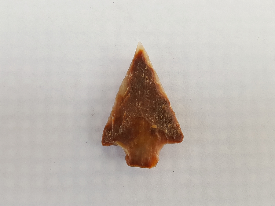 Fl. Newnan type arrowhead, RED CORAL! | Fossils & Artifacts for Sale | Paleo Enterprises | Fossils & Artifacts for Sale