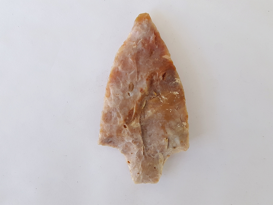 Fl. Kirk-Stemmed type arrowhead, COLORFUL FL. CHERT! | Fossils & Artifacts for Sale | Paleo Enterprises | Fossils & Artifacts for Sale