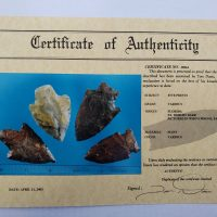 4 Florida points w/COA! | Fossils & Artifacts for Sale | Paleo Enterprises | Fossils & Artifacts for Sale