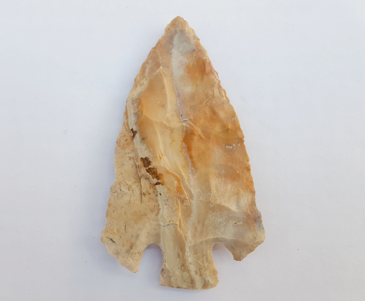 Fl. Clay type arrowhead, COLORFUL CHERT! | Fossils & Artifacts for Sale | Paleo Enterprises | Fossils & Artifacts for Sale