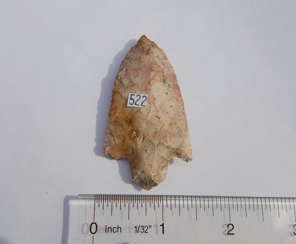 Fl. Cypress Creek type arrowhead w/COA. | Fossils & Artifacts for Sale | Paleo Enterprises | Fossils & Artifacts for Sale
