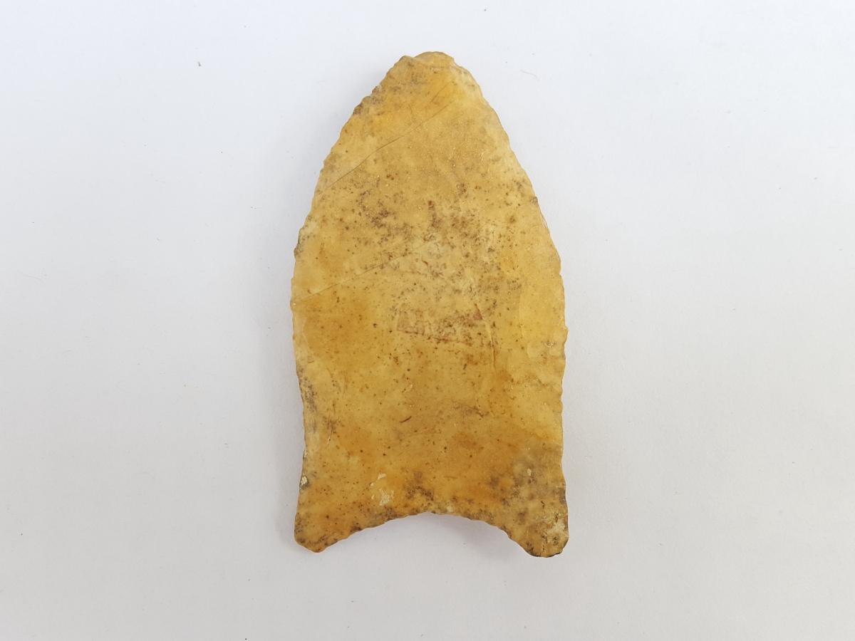 Fl. Simpson type arrowhead, COLORFUL CHERT! | Fossils & Artifacts for Sale | Paleo Enterprises | Fossils & Artifacts for Sale