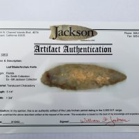 Fl. Archaic Knife w/COA! | Fossils & Artifacts for Sale | Paleo Enterprises | Fossils & Artifacts for Sale