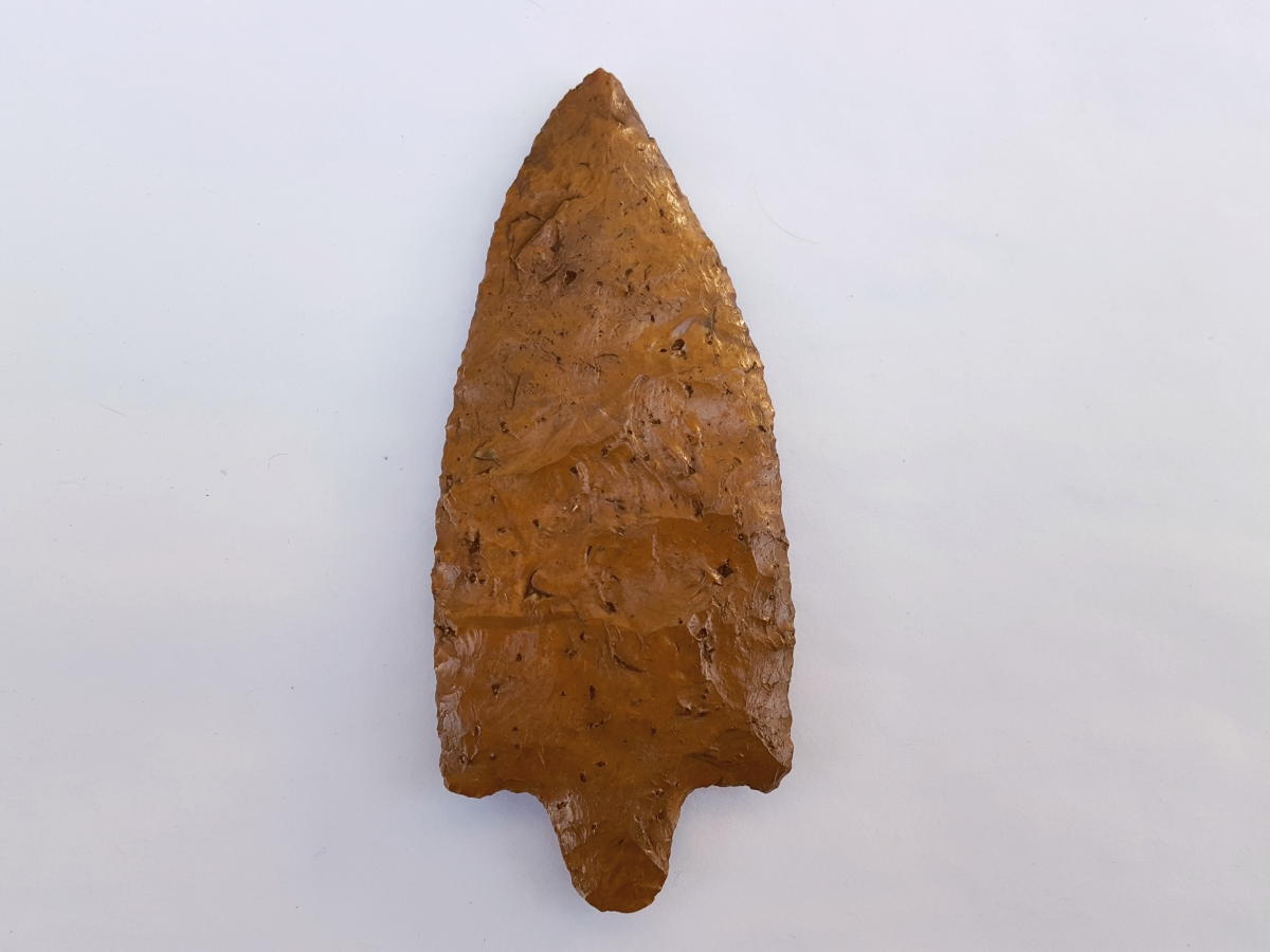 Fl. Hillsborough type arrowhead, LARGE W/GORGEOUS PATINA! | Fossils & Artifacts for Sale | Paleo Enterprises | Fossils & Artifacts for Sale