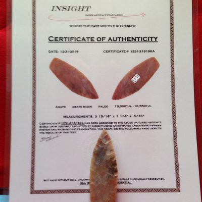 Agate Basin Paleo Indians Artifact