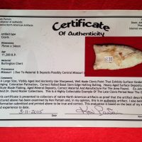 Missouri Clovis COA | Fossils & Artifacts for Sale | Paleo Enterprises | Fossils & Artifacts for Sale