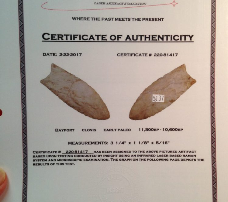 Paleo Bay Point Clovis Artifacts | Fossils & Artifacts for Sale | Paleo Enterprises | Fossils & Artifacts for Sale